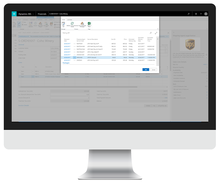 ChargeLogic Shipping for Dynamics 365 for Financials